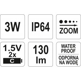 Prožektorius metalinis 3W LED YATO YT-08577