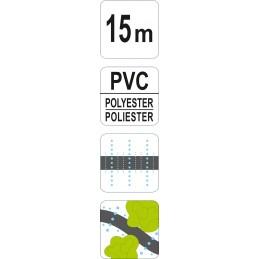 Žarna 15m laistymui lašalinė, PVC FLO-89371