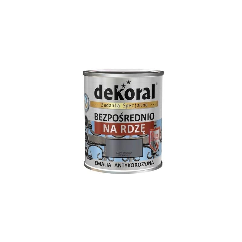 Emalis antikorozinis 0,65ltr. sp. juoda pusiau matinė DEKORAL