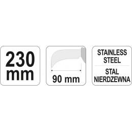 Peilis ruberoidui 230mm YATO YT-7620