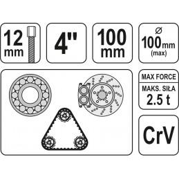 Nuėmėjas guolių 100mm CrV YATO YT-2520