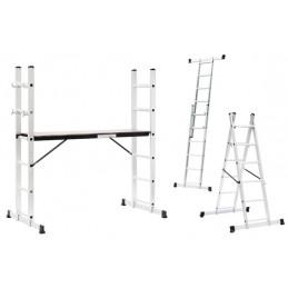 Kopėčios-darbinė aikštelė, aliuminės, 2 dalių, 40,5-147 cm. LANSI L-H06