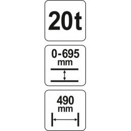 Presas 20t. hidraulinis YATO YT-55581