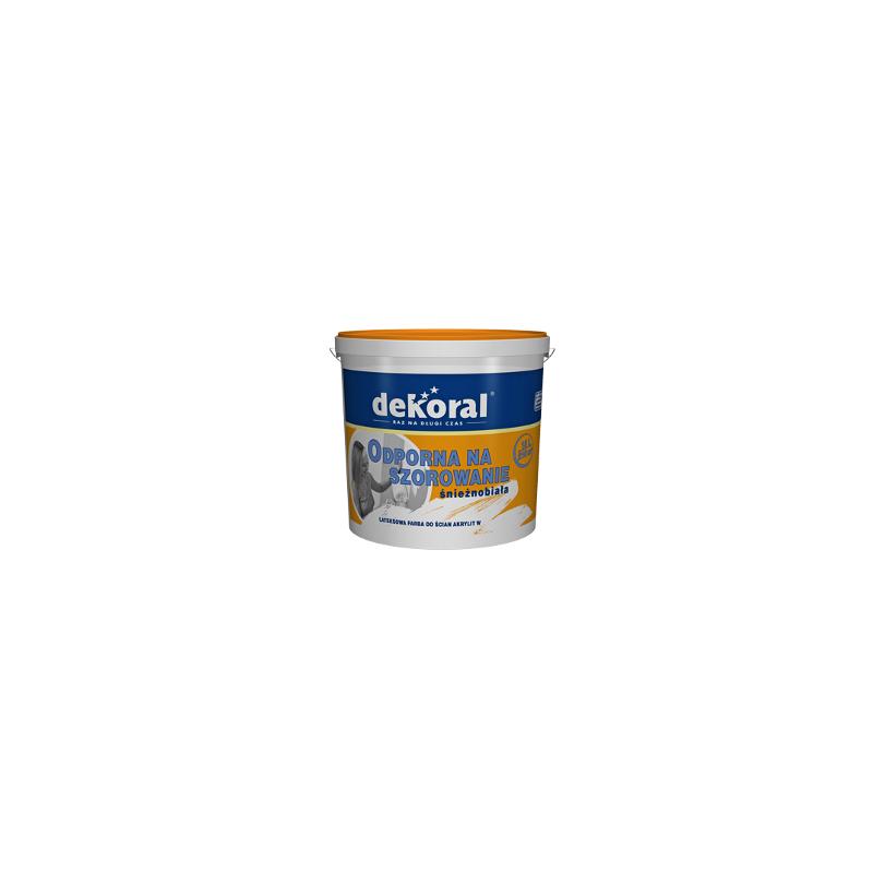 Emulsiniai akriliniai dažai, balti(sniezno-biala), 5ltr. vidaus darbams DEKORAL AKRYLIT W C250822