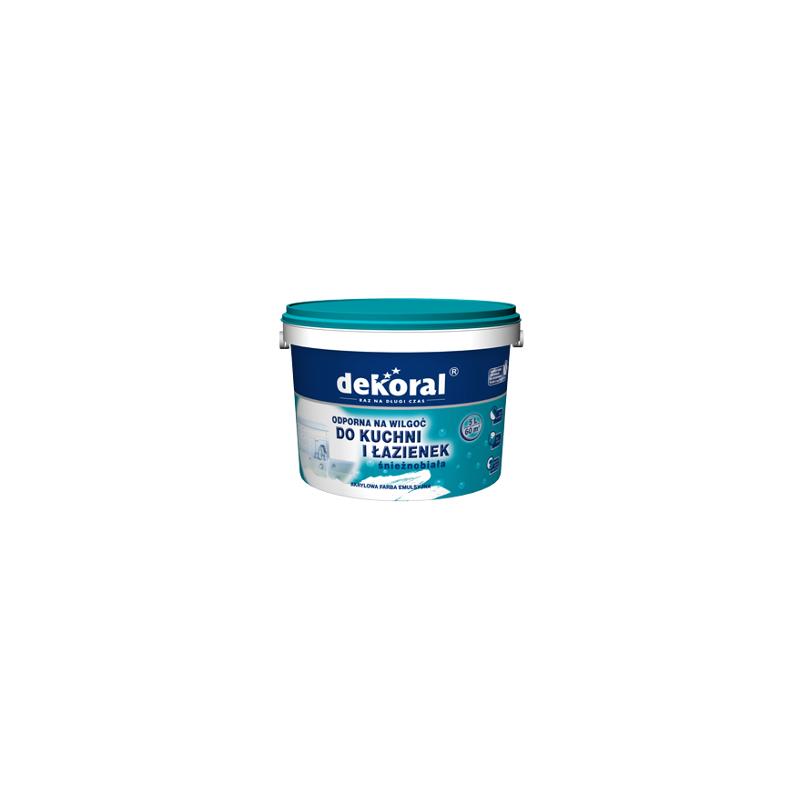Emulsiniai dažai su bioapsauga, balti, 5ltr. vidaus darbams DEKORAL MALEINAK PLUS C212525