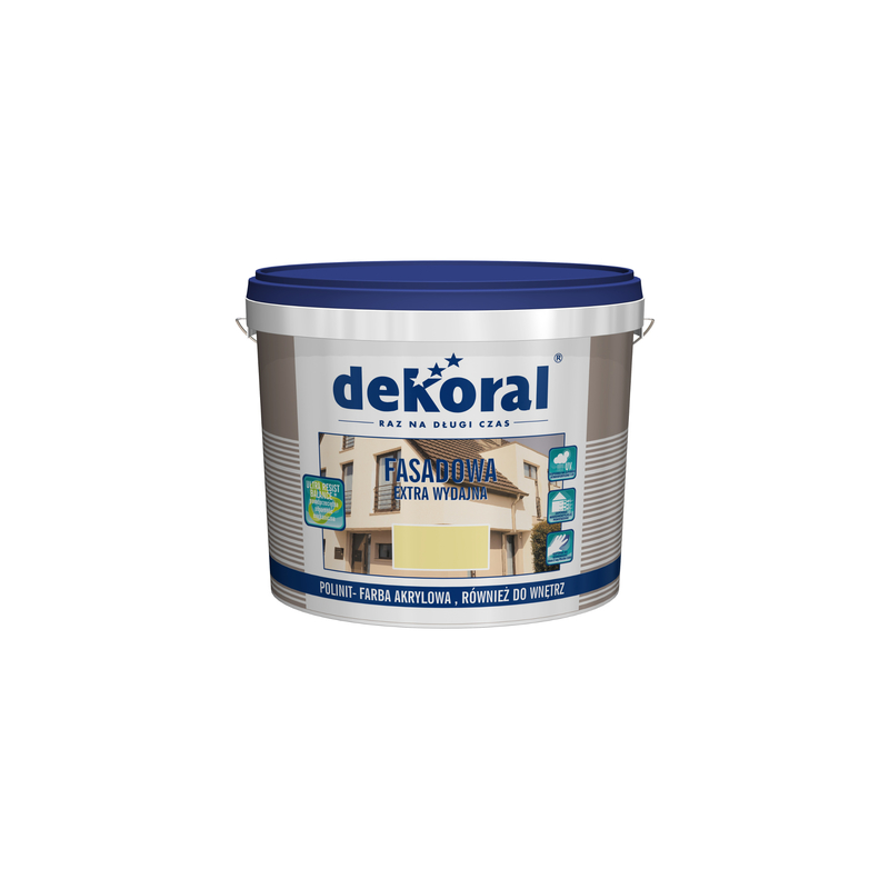 Emulsiniai fasadiniai dažai, balti(sniezna biela), 1ltr. DEKORAL POLINIT C211548