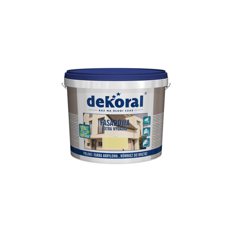 Emulsiniai fasadiniai dažai, balti (sniezna-biel), 10ltr. DEKORAL POLINIT C250815