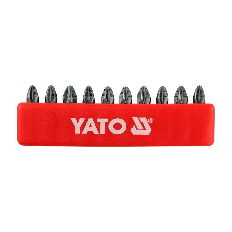 "Antgalių rinkinys 10vnt. PZ1 1/4"" 25mm., YATO YT-0470"