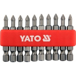 "Antgalių rinkinys 10vnt. PH1 1/4"" 50mm., YATO YT-0477"