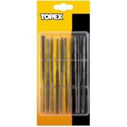 Dildžių 140x3mm. metalui rinkinys 10vnt. TOPEX 06A020