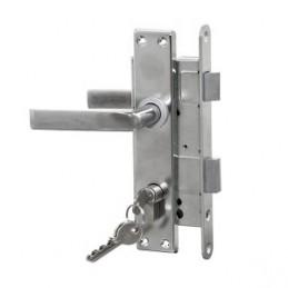 Spyna įleidžiama ZV45 su 3 raktais, nikeliuotas cilindras Latvija 406Z-25802/C-73