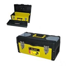 Dėžė įrankiams metalinė/plastikinė 40x20x19cm. CROWNMAN