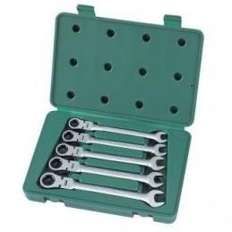 Kombinuotų raktų su lanksčia terkšle rinkinys 5vnt. (10-14)