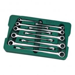 Kombinuotų raktų su terkšle X-Beam rinkinys 10vnt. (8-19)