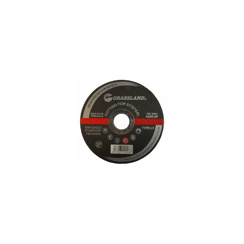Pjovimo diskas 125x1,0x22,2mm. nerūdijančiam plienui