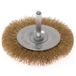 Šepetys vielinis disko tipo, plokščias su kotu, garbanotas