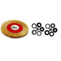 Šepetys vielinis disko tipo, plokščias, garbanotas, 200x32mm