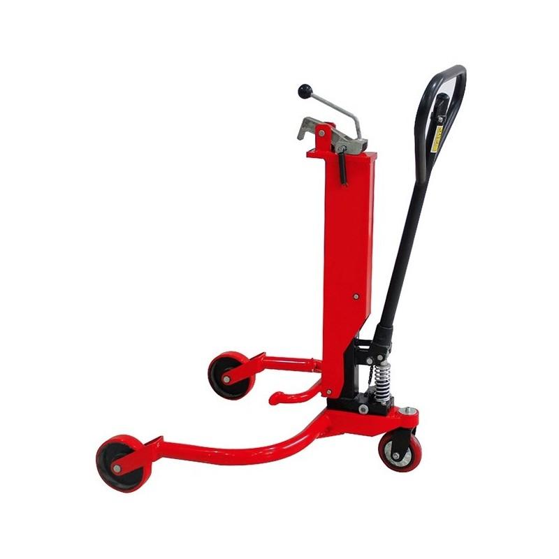 Vežimėlis hidraulinis statinei transportuoti