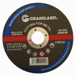 Metalo pjovimo diskas 125x1,0x22,2mm. Tiesus