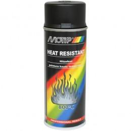 Purškiami dažai THERMO SPRAY 800°C juodi 400ml aerozolis, Motip