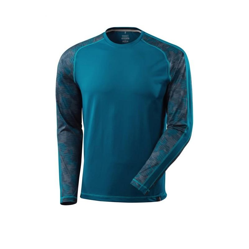 Marškinėliai Advanced, ilgom rankovėm, mėlyna 2XL, Mascot