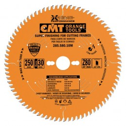 Diskas pjovimo 250x2,5x30 Z80 HM, CMT