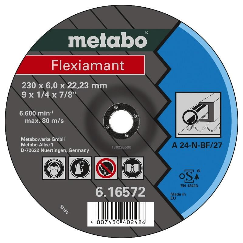 Metalo šlifavimo diskas 125x6,0mm, Metabo