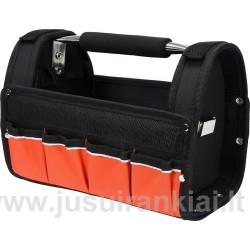 "Krepšys įrankiams 12"", su rankena, 9 kišenės Yato YT-74371"