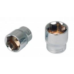 Šešiakampė galvutė 1/4´´ 9mm CHROME+, KS tools