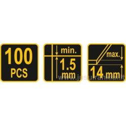 100vnt. intarpų plytelėms, plytelių išlyginimo sistema VOREL Y-04690