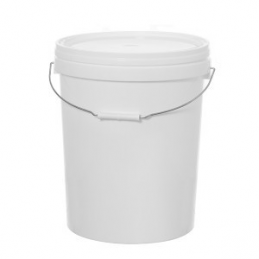 Kibiras polietileninis maistinis su dangteliu 26ltr. apvalus baltas