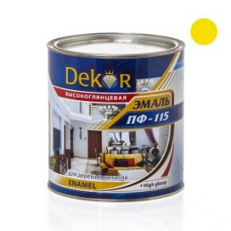 Emalė 2,6kg. sp. geltona DEKOR PF-115 Chimik
