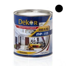 Emalė 2,6kg. sp. juoda DEKOR PF-115 Chimik