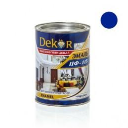 Emalė 0,8kg. sp. mėlyna DEKOR PF-115 Chimik
