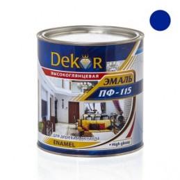 Emalė 2,6kg. sp. mėlyna DEKOR PF-115 Chimik
