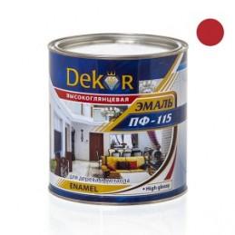 Emalė 2,6kg. sp. raudona DEKOR PF-115 Chimik