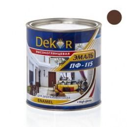 Emalė 2,6kg. sp. šokoladinė DEKOR PF-115 Chimik