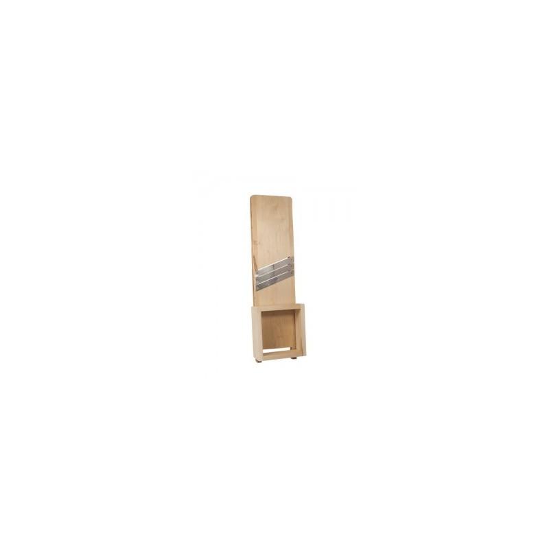 Pjaustyklė medinė 3-jų peilių didelė su laikikliu 67x19cm Lenkija