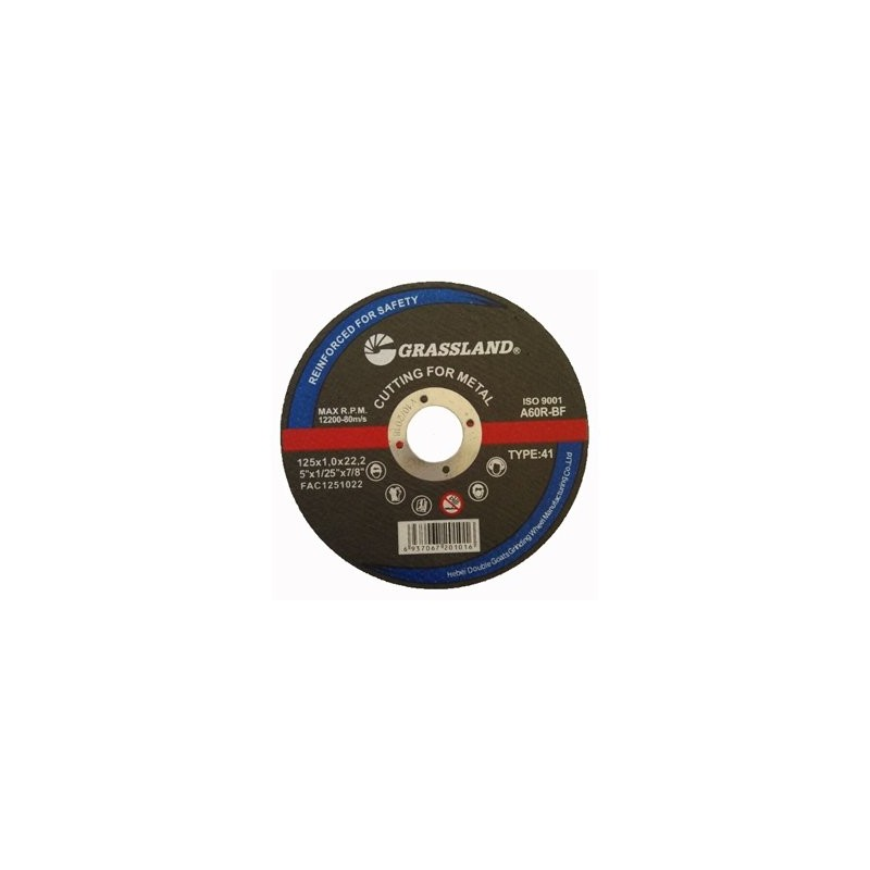 Metalo pjovimo diskas 125x1,6x22,2mm. Tiesus
