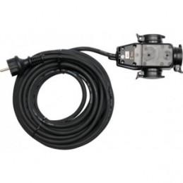 Prailgintojas elektros 10m. 3 lizdų 230V. IP44 izoliacija, 3x1,5mm2 YATO YT-8116