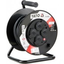 Prailgintojas elektros 20m. 4 lizdų, IP44, 3x1,5mm2 YATO YT-81052