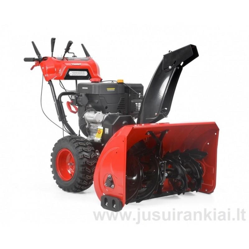 HECHT 9334 SQ sniego valytuvas benzininis 9,9 AG / 7,39 kW su el. starteriu