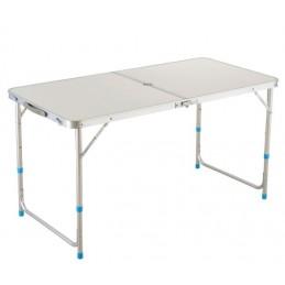 Sulankstomas stalas-prekystalis 120x60cm. aliuminis