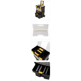 Dėžė įrankiams ant ratuku, 3 dalių su išimamomis dėžutėmis VOREL Y-78734