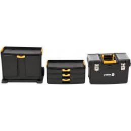 Dėžė įrankiams ant ratuku, 3 dalių VOREL Y-78736