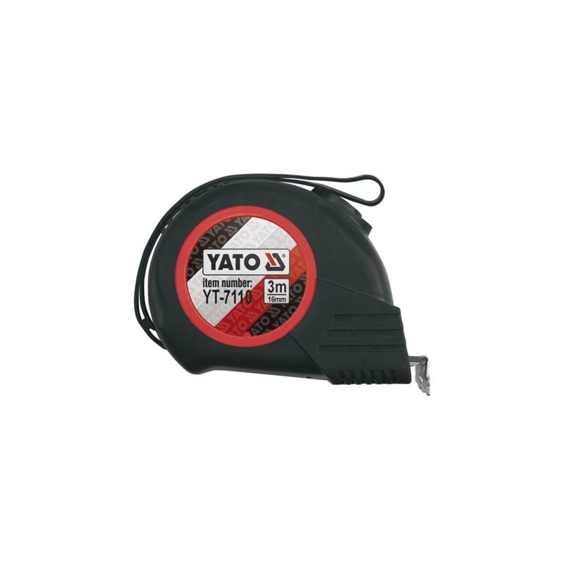 Ruletė 3m.x16mm. Magnetic-Nylon-Automatic YATO YT-7110