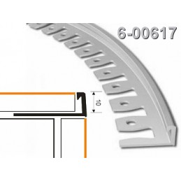 Profilis 10mm. 2,5m. lankstomas, aliuminis-naturalus ZICZAC 6-00617