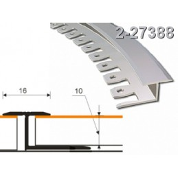 Profilis 16x10mm. 2,5m. lankstomas, aliuminis-bavariškas bukas ZICZAC 2-27388