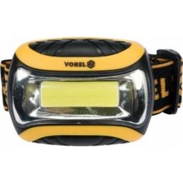 Žibintuvėlis ant galvos su diržu LED, 3W, VOREL Y-88676