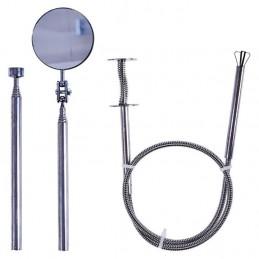 Lankstus giebtyvas, magnetinis keltuvas, teleskopinio veidrodžio rinkinys, 3vnt. MFT03